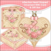 Affection 3D Heart Shaped Ornament With Card & Box