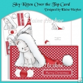 Shy Kitten Over the Top Card