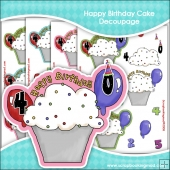 Happy Birthday Cake Decoupage Download