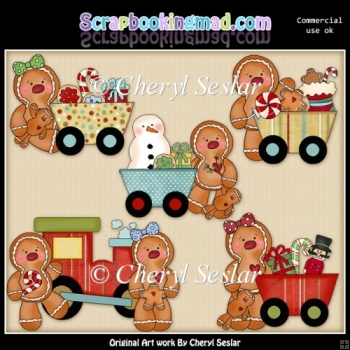 Ginger Friends Christmas Express ClipArt Collection