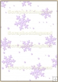 A4 Backing Papers Single - Lilac Snowflakes - REF_BP_122