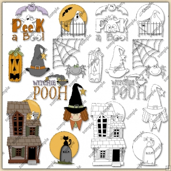Hocus Pocus Halloween 2 ClipArt Graphic Collection