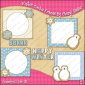 Winter Cookie Frames ClipArt Graphic Collection