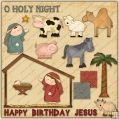 O Holy Night ClipArt Graphic Collection