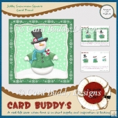 Jolly Snowman Square Card Front