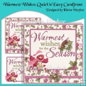 Warmest Wishes QuicknEasy Cardfront