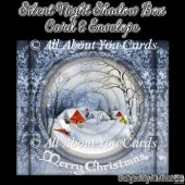 Silent Night Shadow Box Card