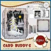 Christmas Night 7x7 Shadow Box Fold Card Kit