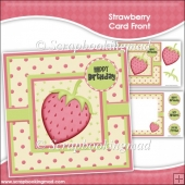 Strawberry Card Front & Insert Panel Kit