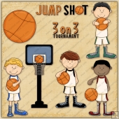 Hoop Star Boys ClipArt Graphic Collection