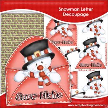 Snowman Letter Decoupage Download