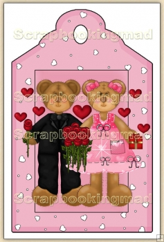 Cute Bears In Love Decorative Tag - REF_T23