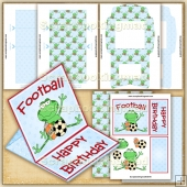 Football Frog PDF Easel Card Download