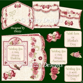Forever Roses Card Kit with freebie Pillow Box