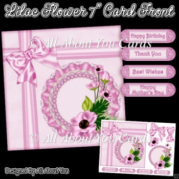 Lilac Flower 7 Inch Card Front