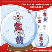 Christmas Mouse Snow Globe Decoupage Download