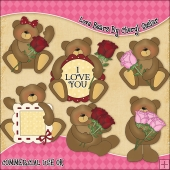 Love Bears ClipArt Graphic Collection