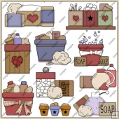 Bath Time ClipArt Graphic Collection