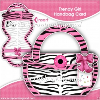 Trendy Girl Handbag Card