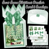 Snow Scene Christmas Cracker Card & Envelope