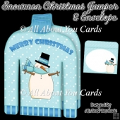 Snowman Christmas Jumper Card & Envelope