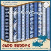 Twelve A4 Blue Christmas Background Papers