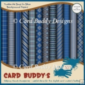 Twelve A4 Boys In Blue Background Papers – CU/PU