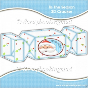 Tis The Season 3D Cracker Gift Box