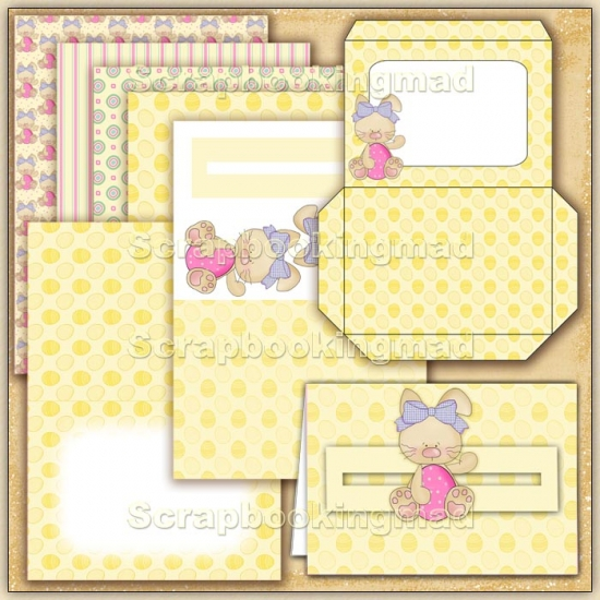 Yellow Easter PDF Penny Slider Card Download - Click Image to Close