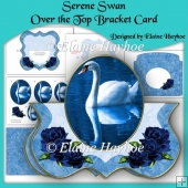 Serene Swan Over the Top Bracket Shaped Card