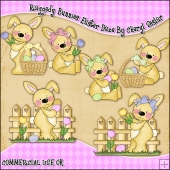 Raggedy Bunnies Easter Daze ClipArt Graphic Collection
