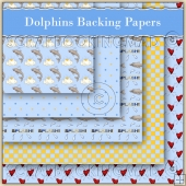 5 Dolphin Backing Papers Download (C137)