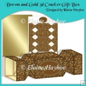 Brown & Gold 3d Cracker Gift Box