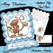 Merry Christmouse Scalloped Edge Easel
