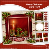Merry Christmas Pyramage Card Front Kit