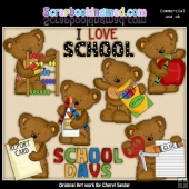 Tibbles Goes To School ClipArt Collection