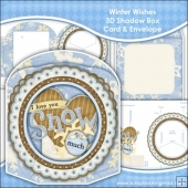 Winter Wishes 3D Shadow Box Card & Envelope