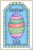 Blue Easter Tag - REF_T298