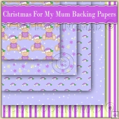 5 Cute Christmas For My Mum Backing Papers Download (C201)