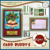Christmas Bell Rounded Corner Fold Card Kit
