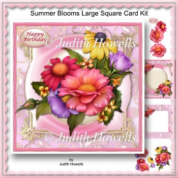 Summer Blooms Large Square Card Kit