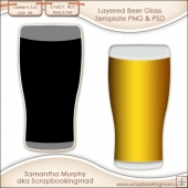Layered Beer Glass Template PNG & PSD - CU OK