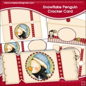 Snowflake Penguin Cracker Card Download
