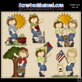 Cute Summer Girls ClipArt Graphic Collection