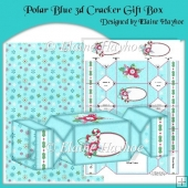 Polar Blue 3d Cracker Gift Box