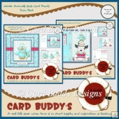 Winter Animals 8x8 Card Fronts Twin Pack