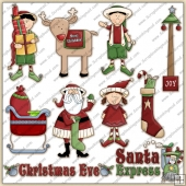 Xmas Eve ClipArt Graphic Collection