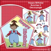 Happy Birthday Bunches 3 Decoupage Download