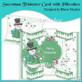 Polar Snowman Tri Shutter Card with Pillowbox