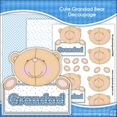 Cute Grandad Bear Decoupage Download